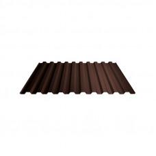 Профнастил полимер СП20 0,4мм (1,15*6,0м) шоколад RAL8017, шт