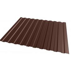 Профнастил полимер С8 0,4мм (1,2*2,0м) шоколад RAL8017, шт