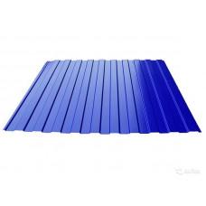Профнастил полимер С8 0,4мм (1,2*2,0м) сигнально-синий RAL5005, шт